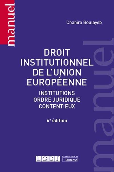 Droit institutionnel de l'Union européenne