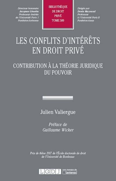 Les conflits d'intérêts en droit privé