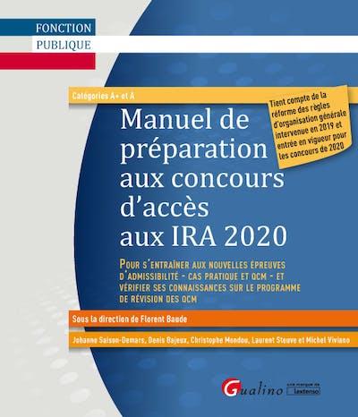 Le Manuel de préparation aux concours d'accès aux IRA 2020