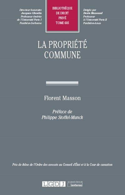 La propriété commune