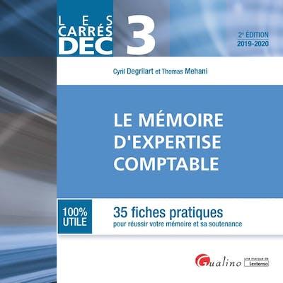 DEC 3 - Le mémoire d'expertise comptable