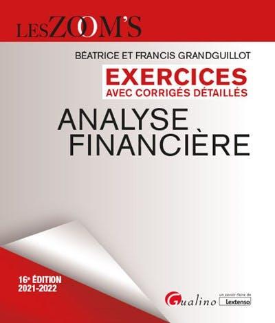 Exercices avec corrigés détaillés - Analyse financière