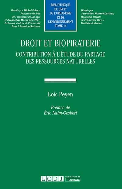 Droit et biopiraterie