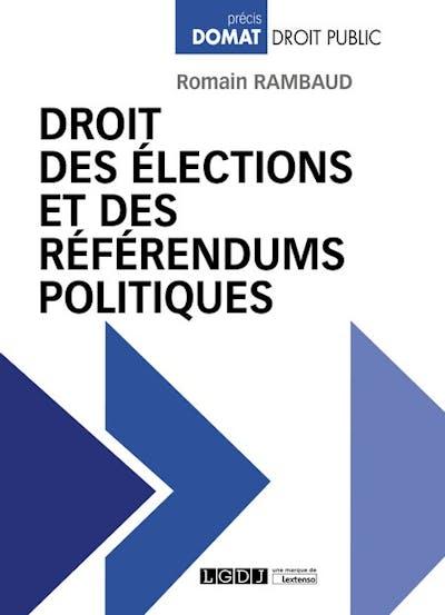 Droit des élections et des référendums politiques