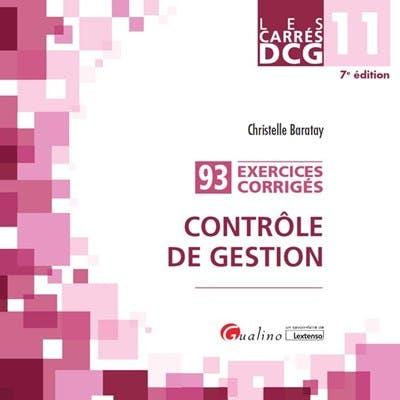 DCG 11 - Exercices corrigés - Contrôle de gestion