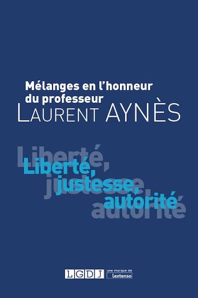 Mélanges en l'honneur de Laurent Aynès