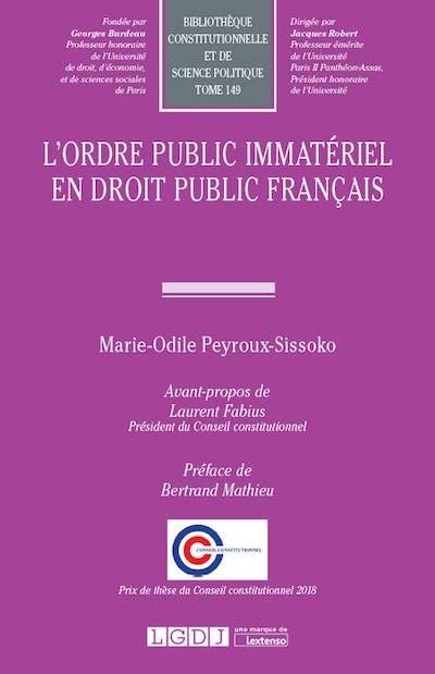 L'ordre public immatériel en droit public français
