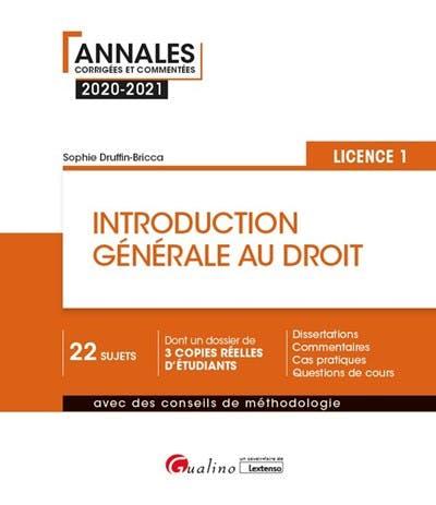 Introduction générale au droit - L1