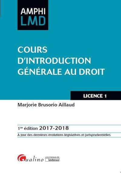 Cours d'introduction générale au droit