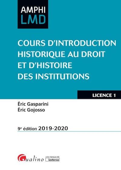 Cours d'Introduction historique au Droit et d'Histoire des institutions