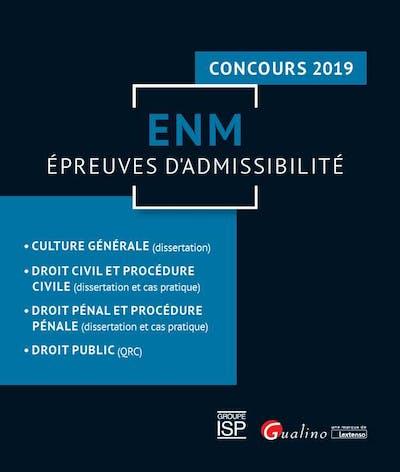 ENM - Épreuves d'admissibilité - Concours 2019