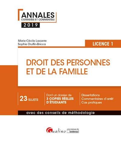 Droit des personnes et de la famille - L1