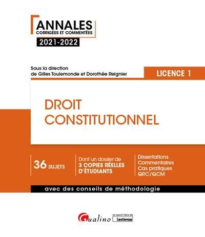 Droit constitutionnel - L1