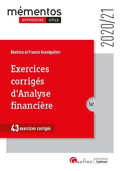 Exercices corrigés d'analyse financière