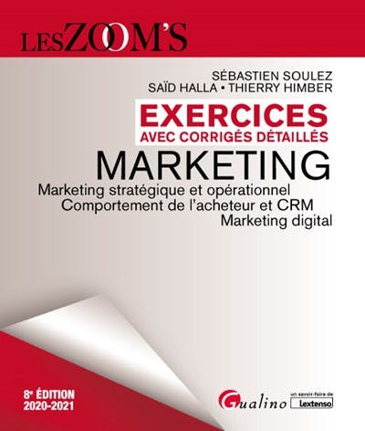 Exercices avec corrigés détaillés - Marketing